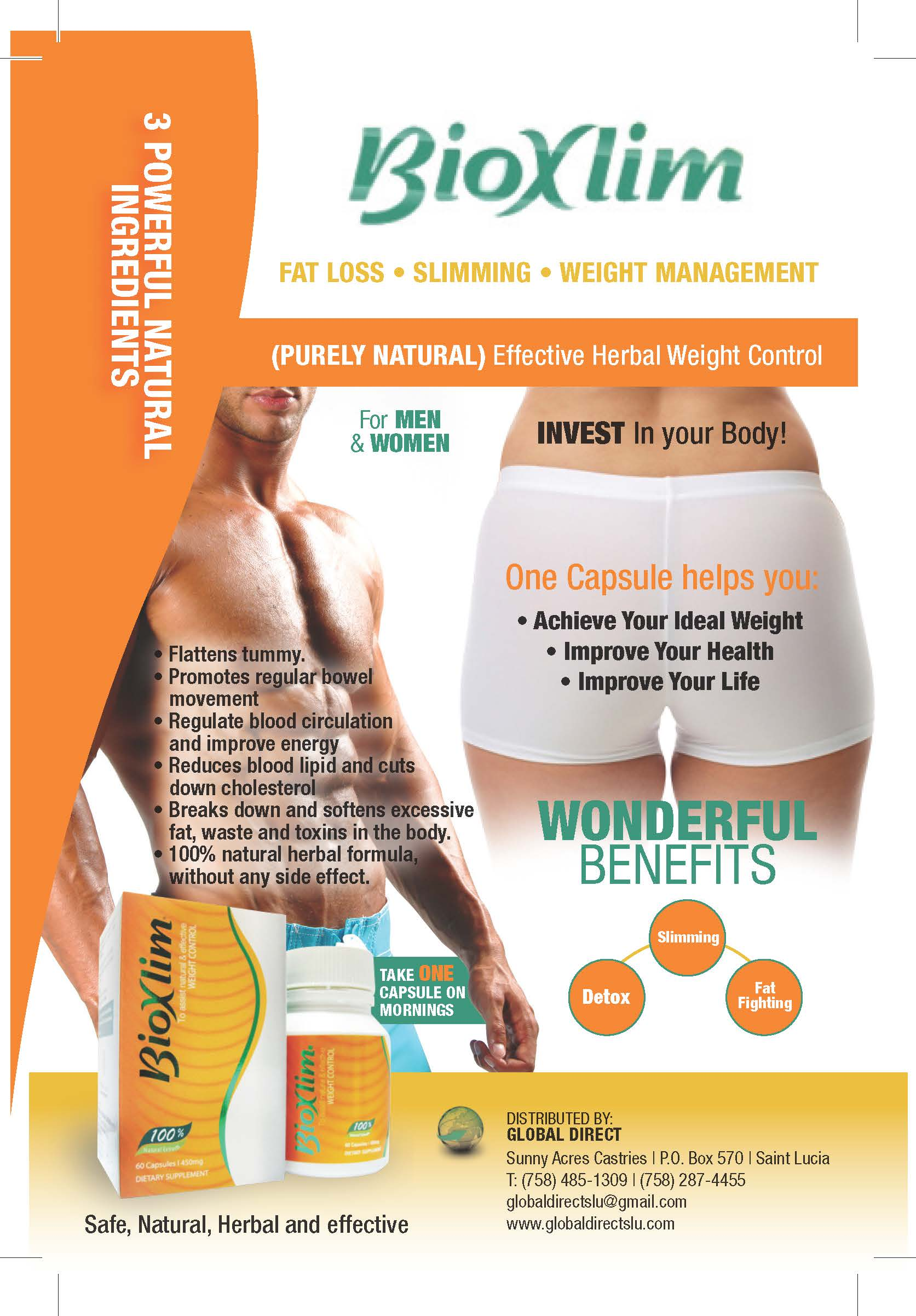 BioXlim Weight Loss (60 Capsules) | Global Direct St. Lucia