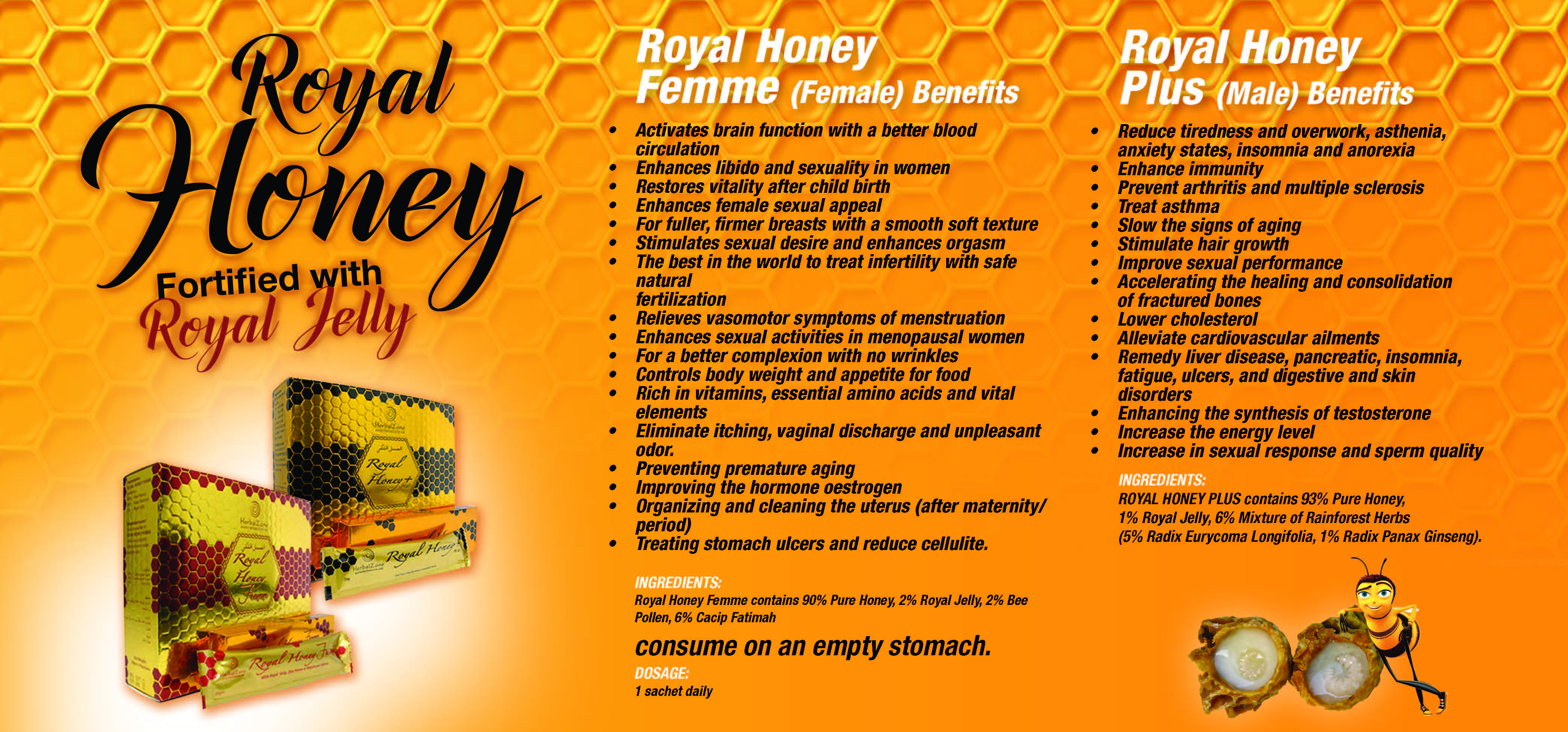 web scroller royal honey